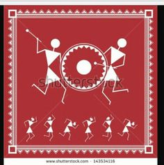 Find Indian Tribal Painting Warli Painting People stock images in HD and millions of other royalty-free stock photos, illustrations and vectors in the Shutterstock collection. Worli Painting, Fabric Painting, Painting People, Madhubani Art, Madhubani Painting, Indian Art Paintings, Abstract Paintings, Oil Paintings, Mandala