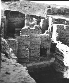 The zig zag wall at Nebuchadnezzar's palace photograph taken Zig Zag Wall, Gertrude Bell, Ancient Artifacts, Middle East, Palace, Photograph, Explore, Woman, History