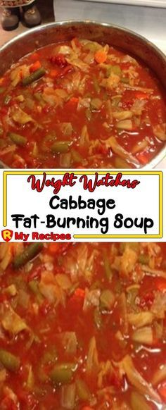 Weight Watchers Fat-Burning Soup Recipe // The word'broth ', whoever origin Cabbage Fat Burning Soup, Cabbage Soup Diet, Cabbage Soup Recipes, Vegetable Soup Recipes, Chicken Soup Recipes, Weight Watcher Cabbage Soup Recipe, Simple Cabbage Soup, Crockpot Cabbage Soup, Weight Loss Vegetable Soup Recipe