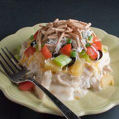 Hawaiian haystacks w/homemade cream soup gravy