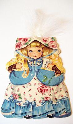 Vintage Hallmark Story Land Doll Card
