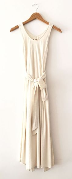 Wrap Dress in Cream by Black Crane