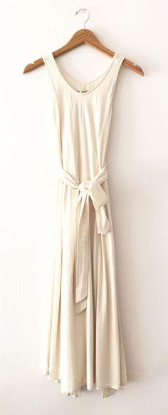 Wrap Dress in Cream by Black Crane