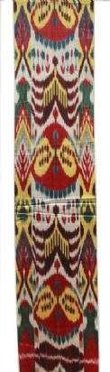 ikat fabric - silk and cotton