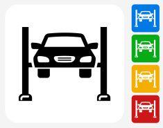 Car Repair Icon Flat Graphic Design vector art illustration