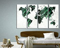 Large Canvas Prints Modern Wall Art for Home & by WALLARTSDECOR Unique Wall Art, Modern Wall Art, Canvas Wall Decor, Wall Art Decor, Sunset Canvas, World Map Canvas, Large Canvas Prints, City Art, Beautiful Artwork