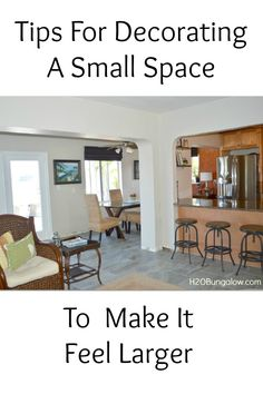 Tips For Decorating A Small Space To Make It Feel Larger. You don't have to give up style or charm!