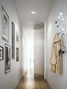 porta con cerniere a bilico in una applicazione speciale per corridoio