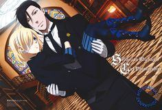 artbooksnat: Black Butler (黒執事) Ciel and Sebastian are incognito for this Kuroshitsuji Book of the Atlantic poster art featured in the February issue of Animedia (Amazon US | Japan) and illustrated by key animator Kei Anjiki (安食圭).