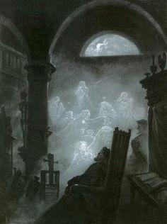 Old Paintings — Faust's Dream by Carl Gustav Carus (German,. Caspar David Friedrich, Carl Gustav Carus, Faust Goethe, Dark Fantasy, Fantasy Art, Art Romantique, Jules Cheret, Ghost Pictures, Mystique