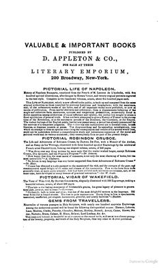 1842 Appleton Catalog from The Life of Peter Van Schaack, LL. D.: Embracing Selections from His ... - Henry Cruger Van Schaack - Google Books