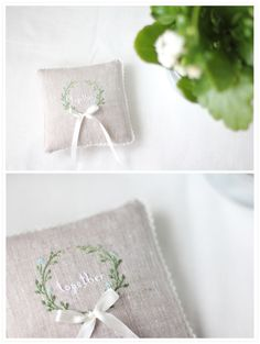 rings pillow with lavender