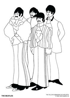 the beatles coloring printable