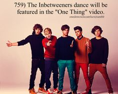 I want to flash mob with the Inbetweener dance. Can you imagine a bunch of people at one time dancing like 1D?