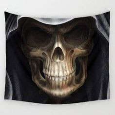 Large Variety of Skull / Day of the Tapestries, Can be used as Beach Blanket or Cover Up