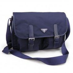 Prada Messenger Shoulder Bag BT0171 Dark Blue (Bluette) Prada Messenger Bag 4db9e92878d7c