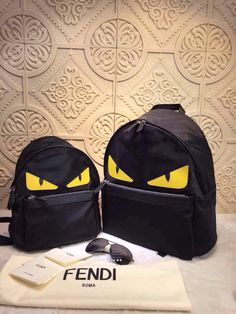 a2b2d485709c 😇😇Fendi Monster Backpack 2015 Collections❤ ❤ 👍👍 26cm Small one 34cm Big  one Email bagsagents gmail.com Instagram bagsagents