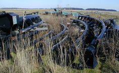 The tracks of CHAOS now rusting in an Indiana field