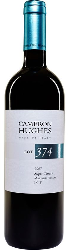 Cameron Hughes Wine Lot 374 2007 Maremma Toscana. Blueberry and blackberry lifted with high-toned graphite, mineral, and olive aromas. – Online Price: $39.00