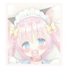 Anime Chibi, Kawaii Anime, Age Regression, Cute Icons, Loki, Baby Photos, Black And White, Pink, Pictures