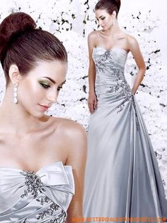 Beautiful Satin A-Line Strapless Sleeveless Wedding Dresses With Pleated Skirt Pleated Wedding Dresses, Wedding Dress Chiffon, Sweetheart Wedding Dress, Colored Wedding Dresses, Cheap Wedding Dress, Designer Wedding Dresses, Bridal Dresses, Wedding Gowns, Dresses 2013