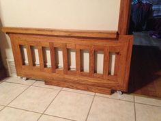 Custom Dog Gates made from Solid Oak.