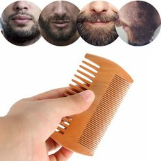 Double Sided Thick Thin Wood Beard Comb Beard Trimming, Thick And Thin, Smooth Hair, Health And Beauty Tips, Hair Removal, Mustache, Beauty Skin, Makeup Tips, Hair Massage