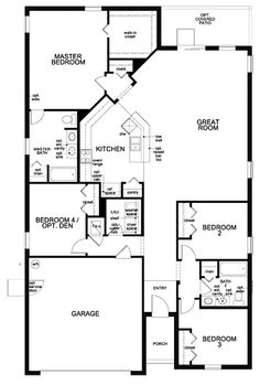 Showing First Floor Of New Built To Order Home, Plan 2003 Modeled,