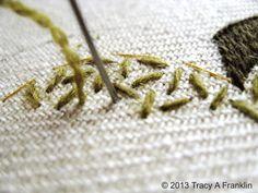Tracy A Franklin - specialist borduurster: Bayeux steek