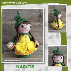 AF-NARCIS-WEB1 Amigurumi Doll, Amigurumi Patterns, Doll Patterns, Crochet Patterns, Knitted Dolls, Crochet Dolls, Crochet Hats, Pokemon, Crochet Diagram