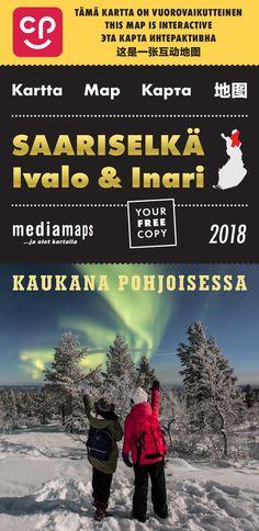 Uusi Mediamapsin Saariselkä, Ivalo & Inari -kartta on ilmestynyt