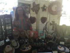 Diana Larson (Class of '96)  - Cork wreaths, wine label trays, encaustic prints and jewelry made from beads, metal, shells, etc.