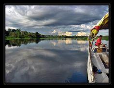 Tarapoto lake in the Colombian Amazon.