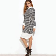 Just in: Houndstooth Contrast Curved Hem Combo Dress http://luxuryandme.com/products/houndstooth-contrast-curved-hem-combo-dress?utm_campaign=crowdfire&utm_content=crowdfire&utm_medium=social&utm_source=pinterest