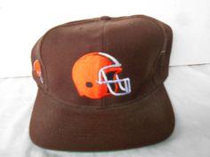 NFL Cleveland Browns Wool Brown Orange Helmut  Snapback Hat Trucker Vintage  #AmericanNeedle #ClevelandBrowns
