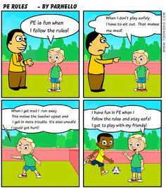 PE Social Skills Cartoon
