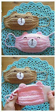 Fun Animal Face Mask Free Crochet Patterns Video DIY Magazine face mask sewing pattern with filter free Poncho Crochet, Crochet Mask, Crochet Faces, Crochet Stitches, Free Crochet, Animal Face Mask, Animal Faces, Sewing Patterns Free, Knitting Patterns