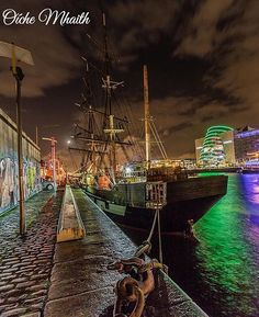 "680 Likes, 6 Comments - Ireland Calling (@irelandcalling1) on Instagram: ""Good Night From Ireland  This stunning view of the Dublin quays is by @richiejp"""