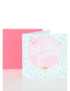 Lets Party Balloon Birthday Card | MS