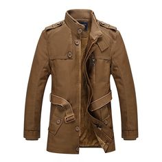 Material: PU Leather      Color:    Brown, Yellow, Black      Decoration: Pockets, Buttons      Closure Type: Zipper, Buttons      Clothing Length: Regular      Sleeve Length: Full      Collar: Stand Collar      Thickness: Regular      Fit Type: Regular      Occasion: Casual, Fashion      Season: Fall, Winter      Tag Size: L, XL, 2XL, 3XL, 4XL          Package included:      1* Jacket      Please Note:              1.Please see the Size…