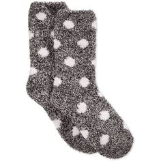 Get that warm and fuzzy feeling all over again with Charter Club's ultra-soft marled dot socks. Navy Socks, Polka Dot Socks, Polka Dots, Black And White Socks, Fluffy Socks, Foot Warmers, Cool Socks, Just In Case, Club