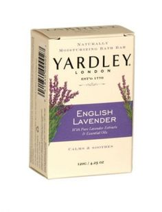 Yardley naturally moisturising bath soap bar 120g english lavender