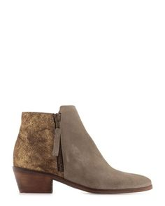 Boots en croûte de cuir avec zip sur le côté