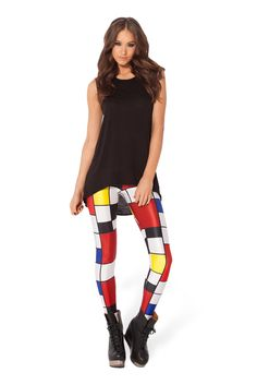 Med Mondrian Leggings PC $65