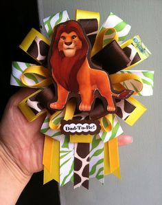 Dad to be lion king corsage by ModernMumsCollection on Etsy Baby Showers, Baby Shower Parties, Baby Shower Themes, Shower Ideas, Lion King Theme, Lion King Party, Lion King Baby Shower, Baby Boy Shower, Baby Shower Centerpieces
