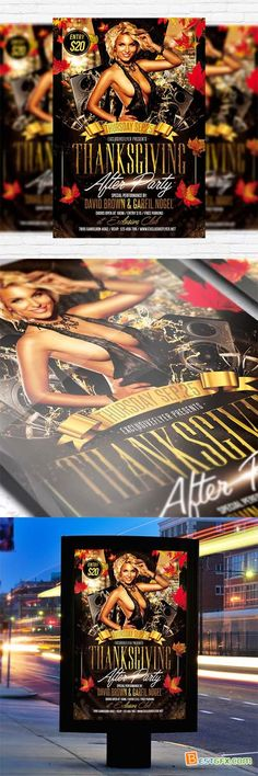 Flyer Template - Thanksgiving After Party + Facebook Cover