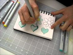 Make Magic with Markers: Demonstration of using Copic Markers to color and shade.