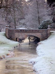 A Winters Scene..makes me wish I could paint or artistic!
