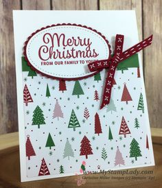 Stampin' Up! Be Merry Designer Series paper with Snowflake Sentiments Stamp. Background paper card. www.shopwithmystamplady.com
