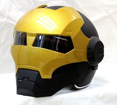 Masei 610 Gold Iron-Man Motorcycle Harley ICon Helmet